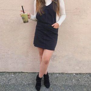 PAIGE Black Denim Skirtalls